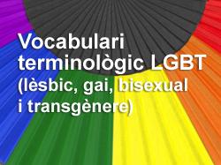 Vocabulari terminològic LGBT (lèsbic, gai, bisexual i transgènere)